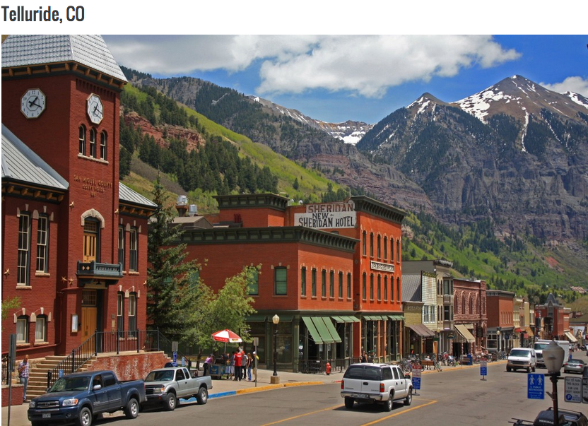 Telluride Colorado Was Ranked One Of The Most Beautiful